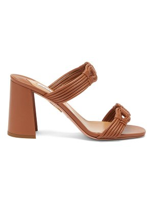Aquazzura noah 85 block-heel leather sandals