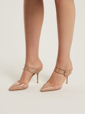 Aquazzura optic 85 buckle strap mules