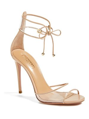 Aquazzura optic clear ankle tie sandal