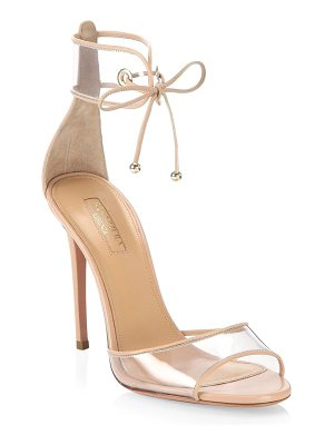 Aquazzura optic pink leather sandals