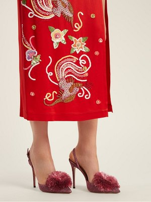 Aquazzura Powder Puff 105 Slingback Pumps