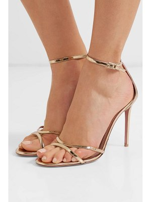 Aquazzura purist 105 mirrored-leather sandals
