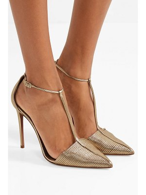 Aquazzura ritz leather pumps