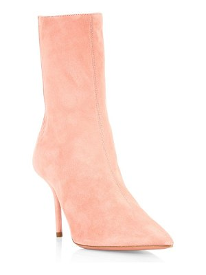 Aquazzura saint honore suede booties