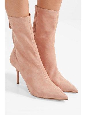 Aquazzura saint honore suede sock boots