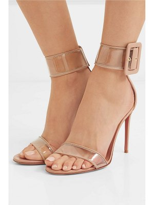 Aquazzura seduction pvc and leather sandals