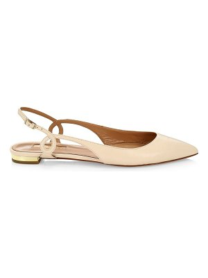 Aquazzura serpentine leather slingback flats