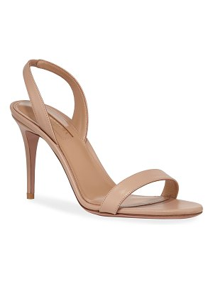 Aquazzura So Nude 85mm Calf Sandals