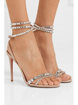 Aquazzura so vera 105 crystal-embellished suede sandals