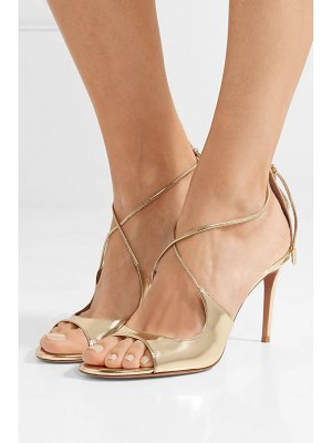 Aquazzura sofia metallic leather sandals