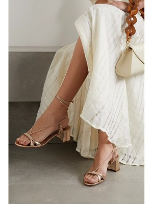 Aquazzura sole 50 metallic leather sandals