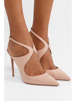 Aquazzura tatlana 105 cutout patent-leather slingback pumps