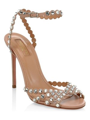 Aquazzura tequila crystal studded leather sandals