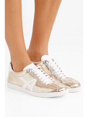 Aquazzura the a metallic textured-leather sneakers