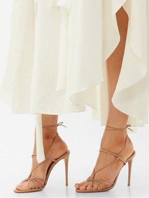 Aquazzura whisper 105 leather sandals