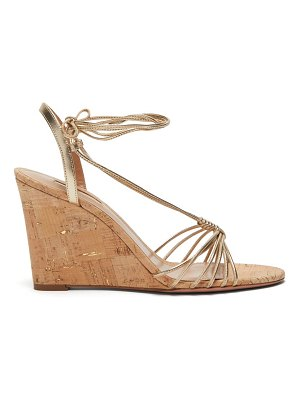 Aquazzura whisper 85 metallic wedge sandals