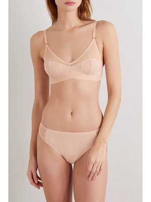 Araks net sustain udaya cotton-jersey and mesh briefs