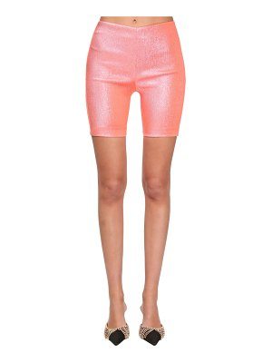 Area Stretch lamé biker short