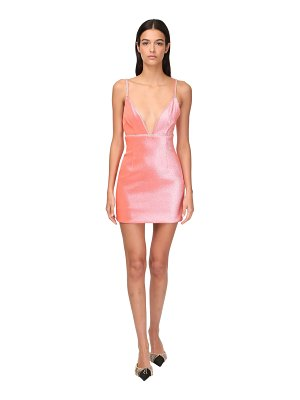 Area Stretch lamé mini dress w/ crystals