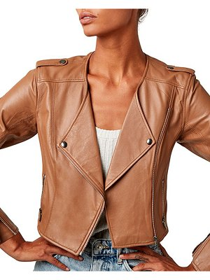 AS by DF Faye Cropped Leather Jacket