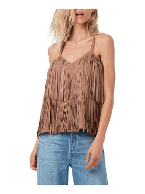 AS by DF Joni Suede Fringe Cami