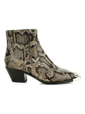Ash floyd snakeskin-embossed leather western boots