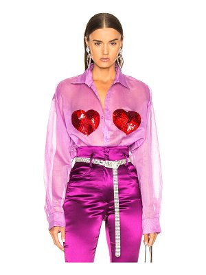 ASHISH Classic Sequin Heart Shirt