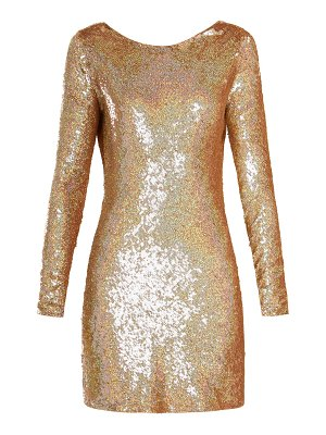 ASHISH cowl back sequin embellished long sleeved dress