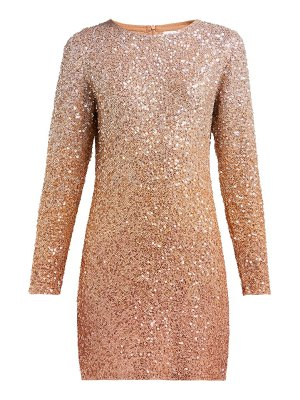 ASHISH long sleeved sequinned mini dress