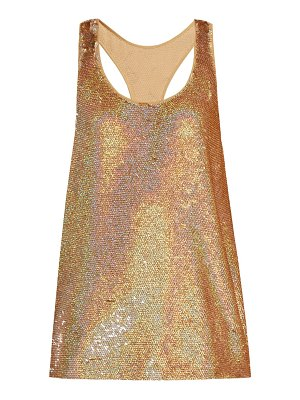 ASHISH racer back sequin embellished tank top