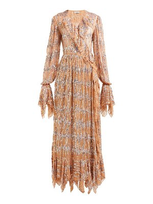 ASHISH sequin-embroidered ruffled wrap dress