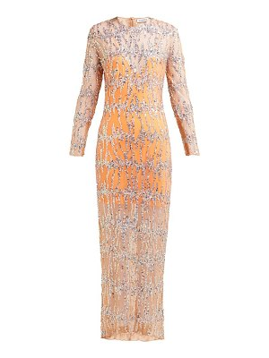 ASHISH sequinned round neck maxi dress