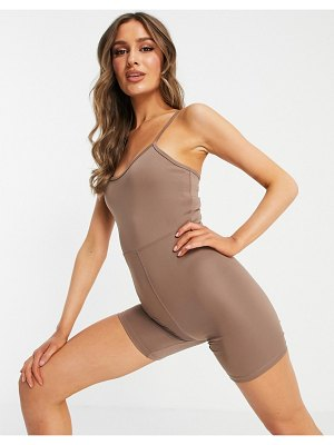 Asos 4505 base layer jumpsuit in compressive jersey with sculpting waist-neutral