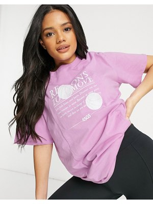 Asos 4505 boyfriend t-shirt with graphic in organic cotton-pink