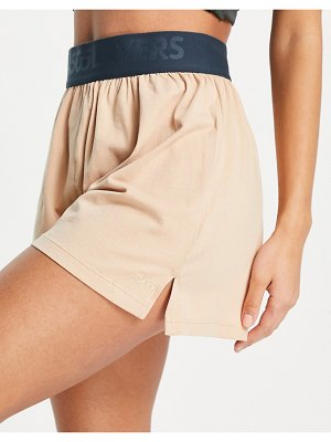 Asos 4505 layers cotton boxer shorts with deep elastic-neutral