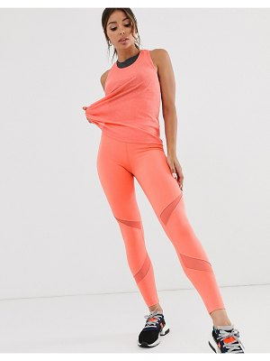 Asos 4505 legging with fine mesh inserts
