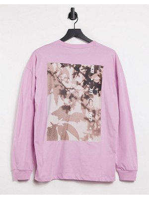 Asos 4505 unisex oversized long sleeve t-shirt with graphic-pink