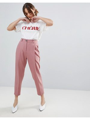 ASOS DESIGN asos 80's tailored pants with deep pleat