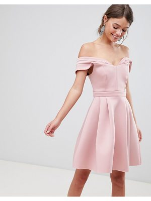 Asos Bardot Cold Shoulder Mini Prom Dress