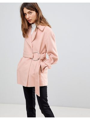 ASOS DESIGN belted soft biker