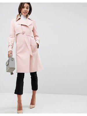 ASOS DESIGN asos bonded trench with d-rings