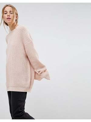ASOS Boyfriend Sweater In Chunky Rib