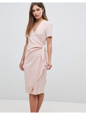 ASOS Clean Wrap Tie Midi Dress