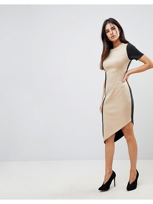 ASOS DESIGN color block pencil dress with piping