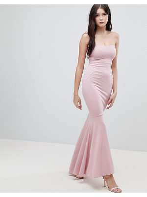 Asos ASOS Crepe Bandeau Maxi Fishtail Dress