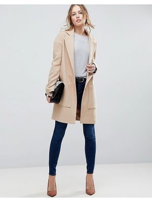 ASOS DESIGN crepe pocket detail coat
