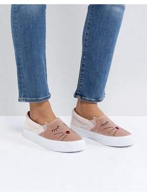 Asos DELICATE Embroidered Cat Sneakers
