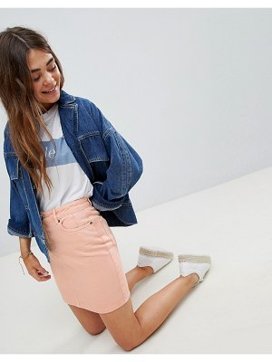 ASOS DESIGN denim original skirt in apricot