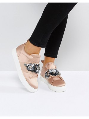ASOS DESIGN desert rose embellished sneakers