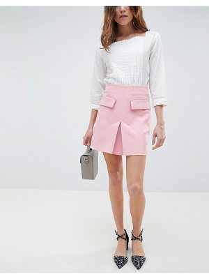 ASOS DESIGN a line mini skirt with pocket front detail